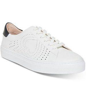 New Kate Spade Aaron Black/White Leather Sneaker